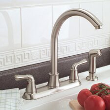 Sanibel Two-Handle Kitchen Faucet with Matching Spray