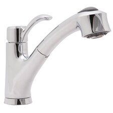 Sanibel Single Handle Single Hole Kitchen Faucet with Pull-Out Spray