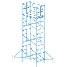 Homebuilder 15' H x 1.6' W x 6' D Scaffold Tower with Casters