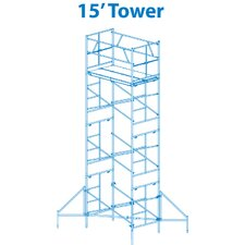 Homebuilder 15' Scaffold Tower with Leveling Jacks