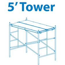5' H x 6' W x 3.5' D Homebuilder Scaffold Tower