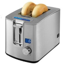 2-Slice Retractable Cord LED Display Toaster