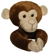 <strong>Curtain Critters</strong> Plush Chocolate Brown Monkey Curtain Tieback