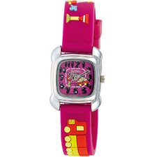 Juniors Car Design Watch in Fuchsia