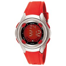 Midsize Digital Multi-Function Watch in Red