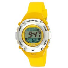 Midsize Digital Watch in Yellow Plastic Watch