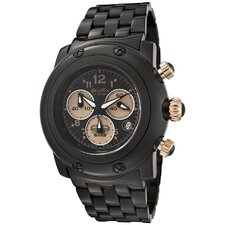 <strong>Glam Rock</strong> Women's Miami Chronograph Ion Plated Round Watch