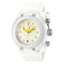 <strong>Glam Rock</strong> Women's Crazy Sexy Cool Chronograph Guilloche Round Watch