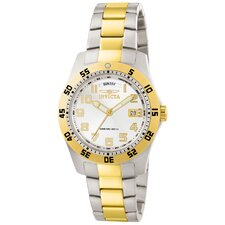 Men's II Dial Two Tone Stainless Steel Watch