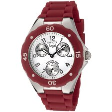 Women's Angel Watch in White Dial Red Silicone