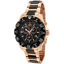 Men's Specialty Chronograph Two Tone Round Watch