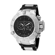 Men's Subaqua Chronograph Polyurethane Round Watch