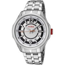 Men's Starter Stainless Steel Watch with Silver Dial