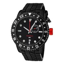 Men's Classic GMT Silicone Round Watch