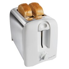 <strong>Hamilton Beach</strong> Two Slice Proctor-Silex Cool-Wall Toaster in White