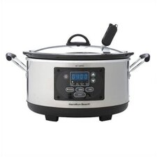 Set n' Forget Programmable Slow Cooker in Silver