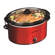 <strong>Hamilton Beach</strong> 5 Quart Slow Cooker with Lid Latch