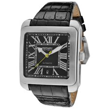 <strong>Rotary Watches</strong> Men's Editions Automatic Tone Case Rectangle Watch
