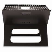 <strong>Picnic Time</strong> X Compact Folding Portable Charcoal BBQ Grill