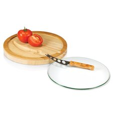<strong>Picnic Time</strong> Iris Cutting Board with Knife