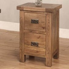 Brooklyn 2 Drawers Bedside Table