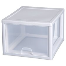 27 Quart Clear Stacking Drawer 23108004 (Set of 4)