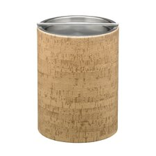 Natural Cork 2 Qt. Tall Ice Bucket with Metal Bar Cover