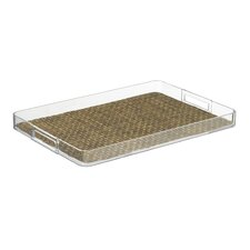"Woven 19"" Handled Rectangle Serving Tray"