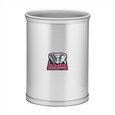 Collegiate Alabama Waste Basket in Brushed Chrome