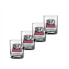 Collegiate 14 oz. Alabama Glass (Set of 4)