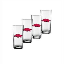 Collegiate 16 oz. Arkansas Glass (Set of 4)