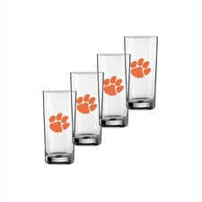Collegiate 16 Oz Clemson Glass (Set of 4)