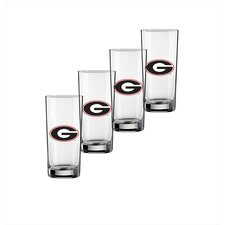 Collegiate Georgia 16 Oz Glass (Set of 4)