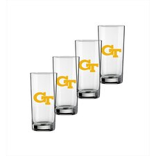 Collegiate Georgia Tech 16 oz. Glass (Set of 4)