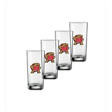 Collegiate Maryland 16 Oz Glass (Set of 4)
