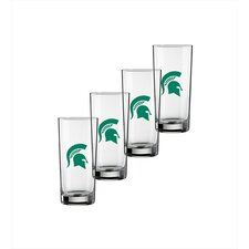 Collegiate 16 Oz Michigan State Glass (Set of 4)