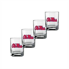 Collegiate U Mississippi 14 Oz Glass (Set of 4)