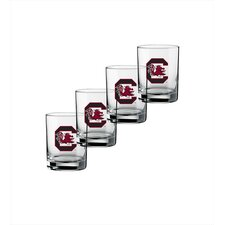 Collegiate USoC 14 Oz Glass (Set of 4)