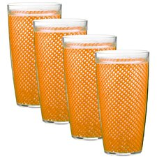 <strong>Kraftware</strong> Fishnet 24 Oz Double Wall Drinkware (Set of 4)