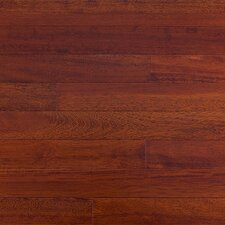 "Semi-Gloss 3-5/8"" Solid Kempas Flooring in Royal Mahogany"