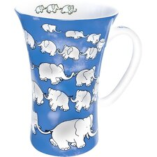 <strong>Könitz Porzellan GmbH</strong> Mega Chain of Elephants Mug in Blue