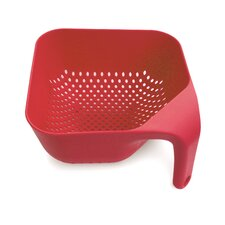 Large Square Colander in Red