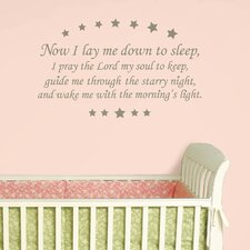 <strong>WallPops!</strong> Baby Now I Lay me Down Wishes Wall Decal