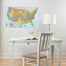 <strong>WallPops!</strong> USA Dry-Erase Map Wall Mural