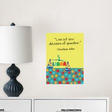 Jonathan Adler Dry Erase Libra Board Wall Decal