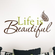 <strong>WallPops!</strong> Art Kit Life is Beautiful Phrases Wall Decal