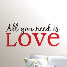 <strong>WallPops!</strong> Art Kit All You Need is Love Phrases Wall Decal