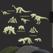MyStyle Glow in the Dark Dinosaurs Wall Decal