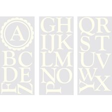 <strong>WallPops!</strong> Sheets Dorset Ivory Monogram and Alphabet Wall Decal