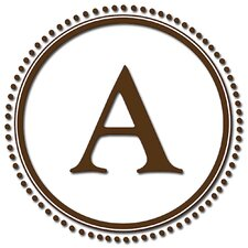 Sheets Durham Espresso Brown Monogram and Alphabet Decal Set